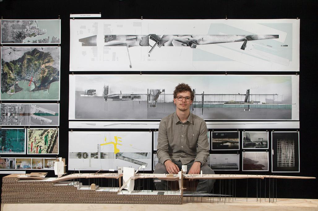 "WINNER: Tom Dobinson (Victoria University of Wellington). Project: ""Wharf Dwellers – An Expose of Lyttelton"""