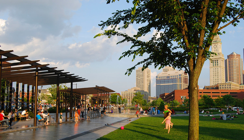 Boston's North End Parks designed by Gustafson Guthrie Nichol and Crosby Schlessinger Smallridge (Courtesy of GGN)