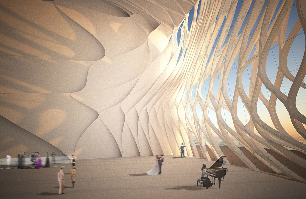 Competition entry for the new Busan Opera House by Orproject (Image: Orproject)