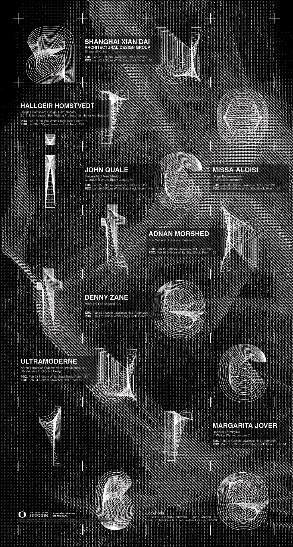 Poster designed by Vincent Mai. Courtesy of U.Oregon Department of Architecture.