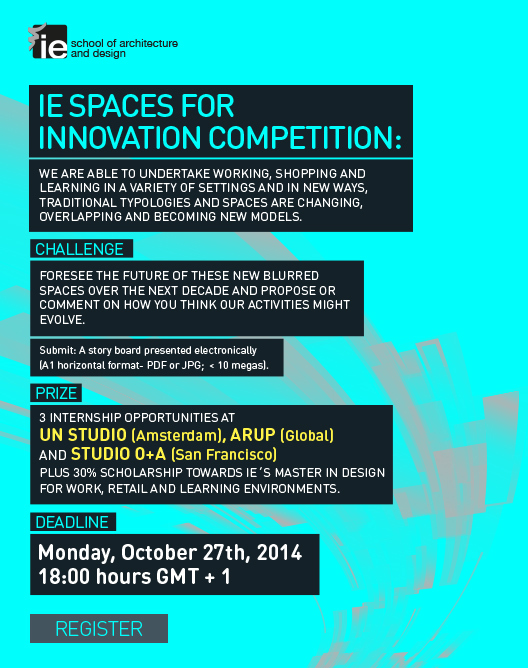 Apply now for the IE SPACES FOR INNOVATION Prize