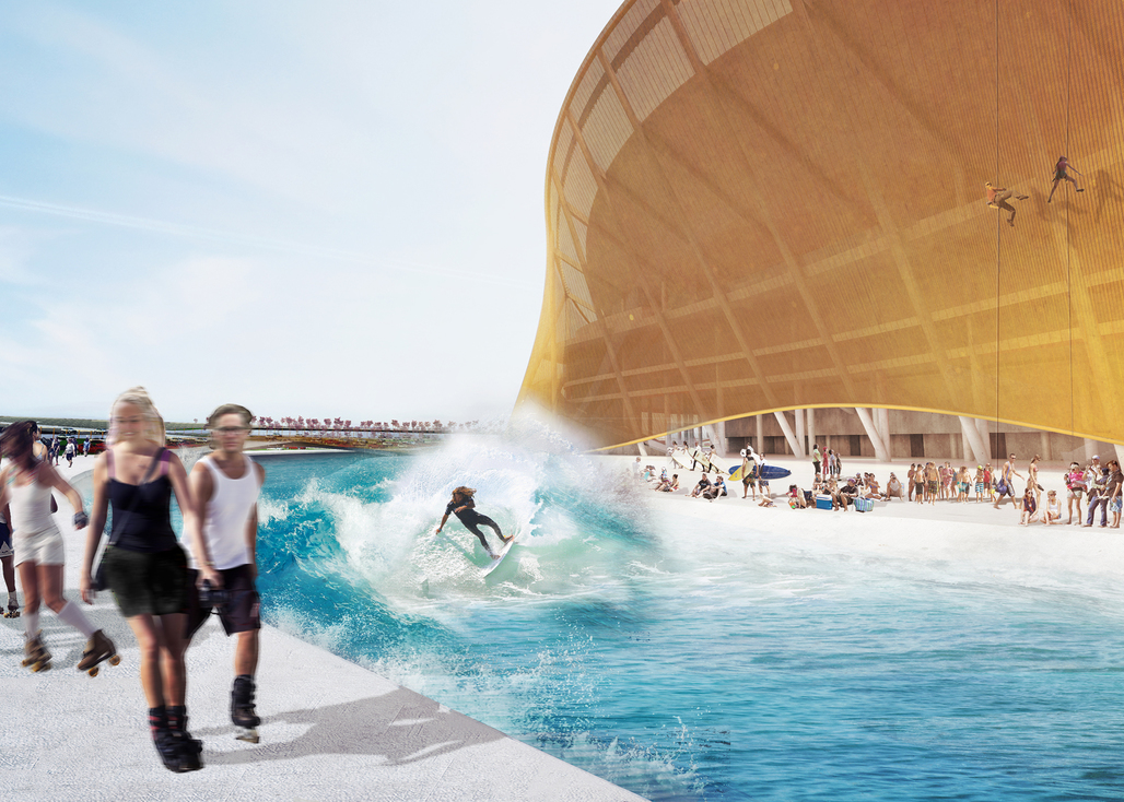 The moat the merrier: a rendering of BIG's moat. Image: BIG.