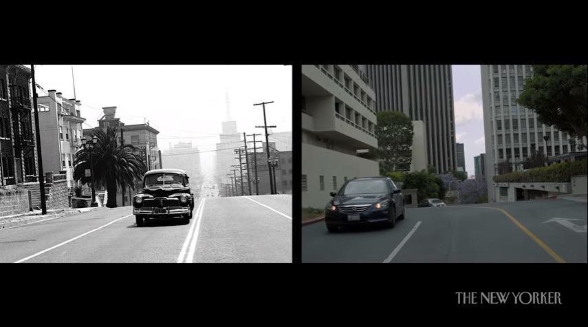 Still from Keven McAlester's short film Seventy Years of Los Angeles, Then and Now for The New Yorker. (Source: YouTube)