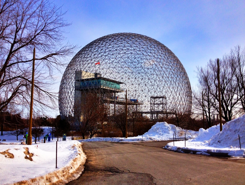 Buckminster Fuller's Biosphere in Montreal. Photo: Alex Faris/Wikipedia.org