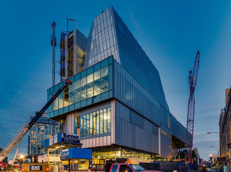 The new Renzo Piano-designed Whitney Museum building under construction. Credit: the Whitney Museum