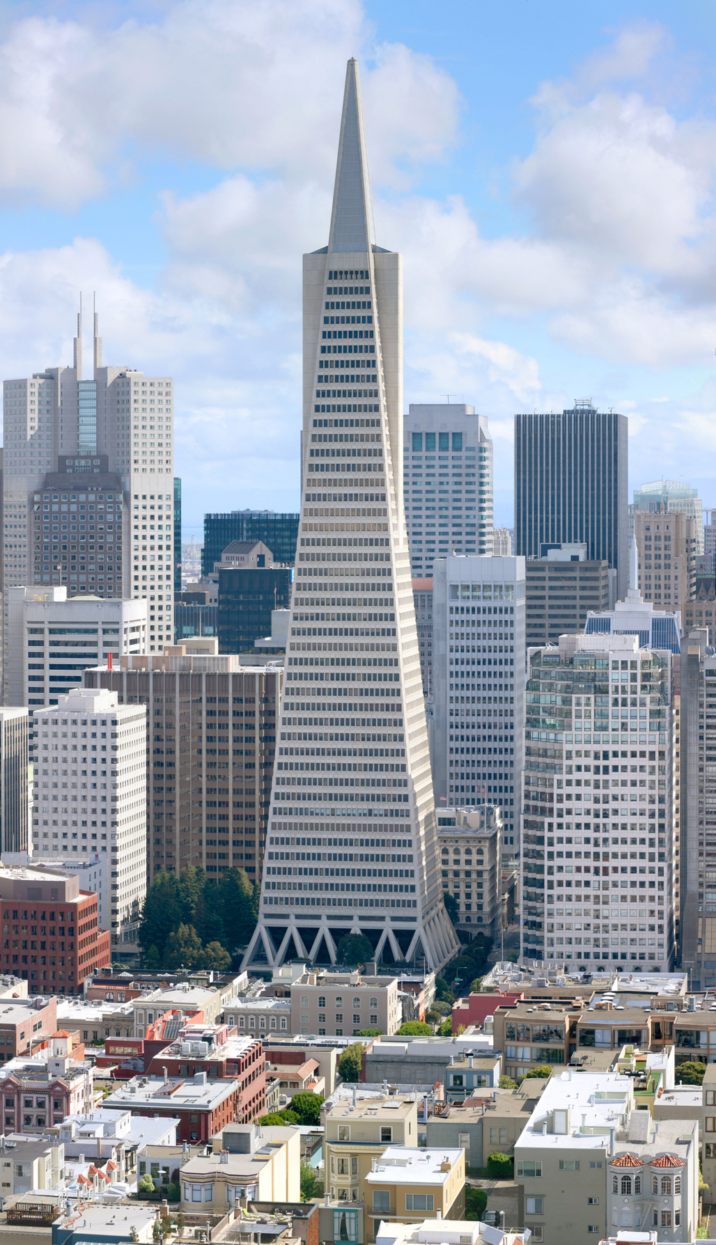 "Is this urban mixture going to be ""disrupted"" by apps? (Transamerica Building Photo courtesy Wikipedia)."