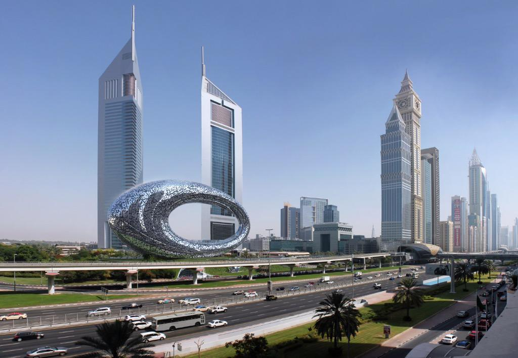 Conceptual rendering of the $136M Museum of the Future, which is scheduled to open in 2017. (Image via Sheikh Mohammed's Twitter feed)