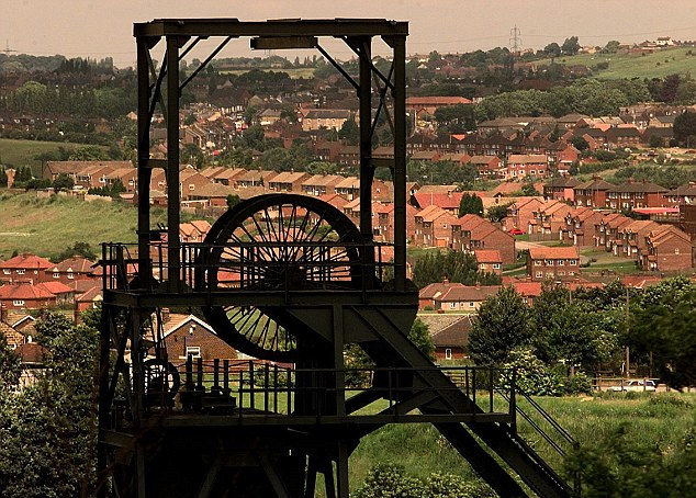 Coal mining, once the backbone of the industrial revolution and critical in the rise of the British Empire, shaped many towns like nothing else in the kingdom (pictured is Barnsley, South Yorkshire). Times have changed though, and it's now lights out for the country's last deep-pit coal mine.