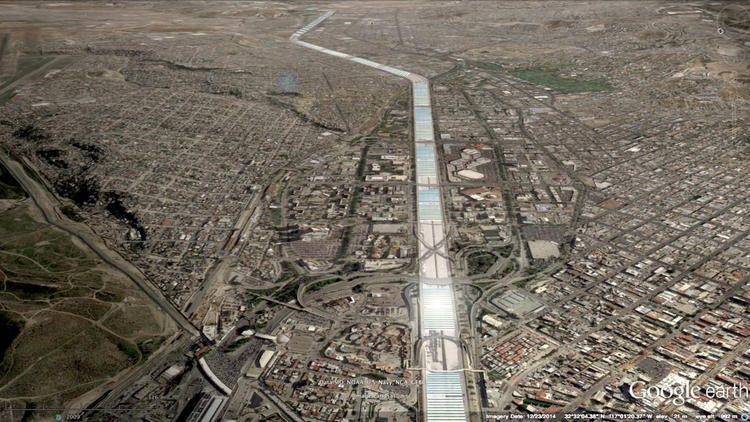 A river runs through it: the proposed new Tijuana river. Rendering: Generica.