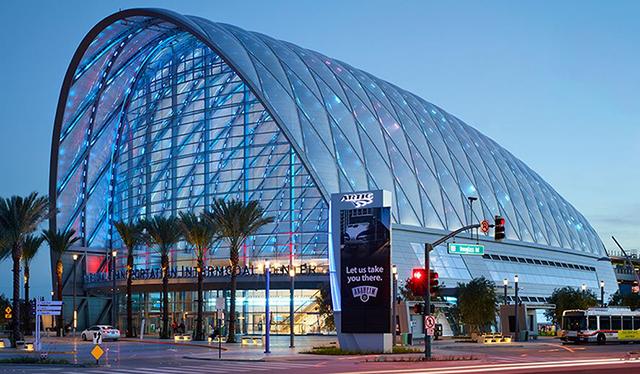 The Anaheim Regional Transportation Intermodel Center. Image: HOK