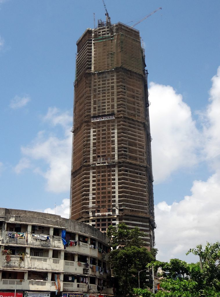 Did the Palais Royale developers build 13 floors too many? The company, Shree Ram Urban Infrastructure Limited, claims it had proper permits, but the Bombay high court thinks otherwise. A final decision is still pending. (Photo: Rishabh Tatiraju; Image via Wikipedia)