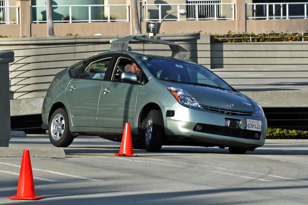 A Toyota Prius modified by Google to drive itself. Image via wikimedia.org