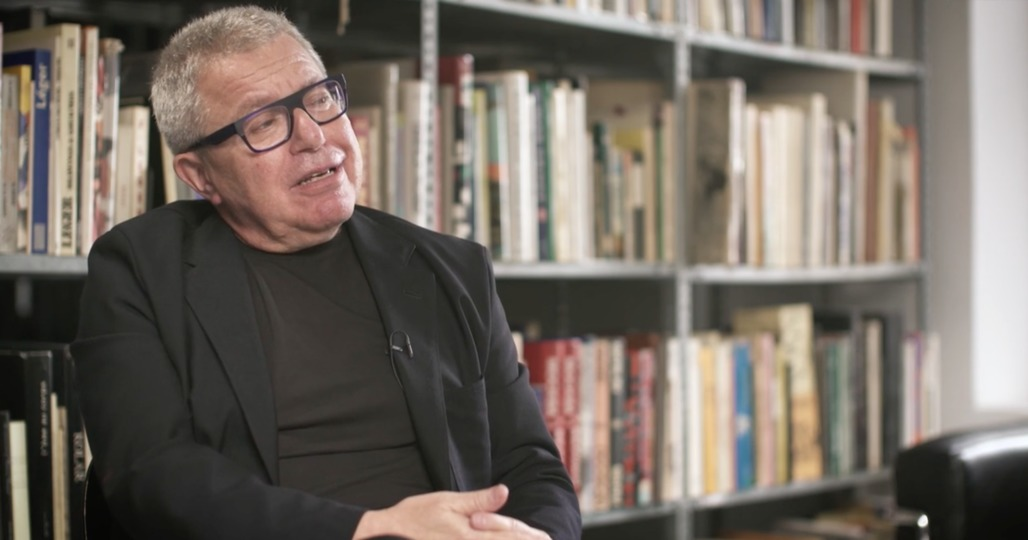 """A screenshot of Daniel Libeskind from his """"Tribute to New York."""""""