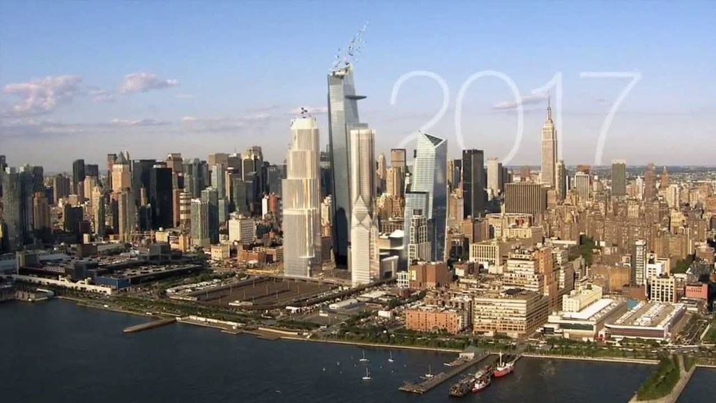 Smart city projects, like the Hudson Yards in New York (picture here is an artist's projection of the Hudson Yards in 2017), promise to increase urban efficiency, but they're also vulnerable to hacks. Image via youtube.com