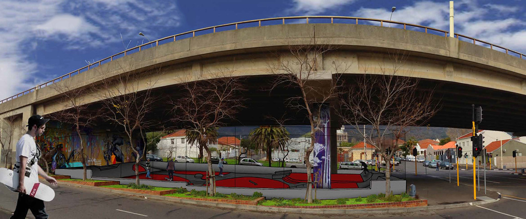 """Competition and Professional Winning entry: """"Cape Town Gardens Skate Park"""""""
