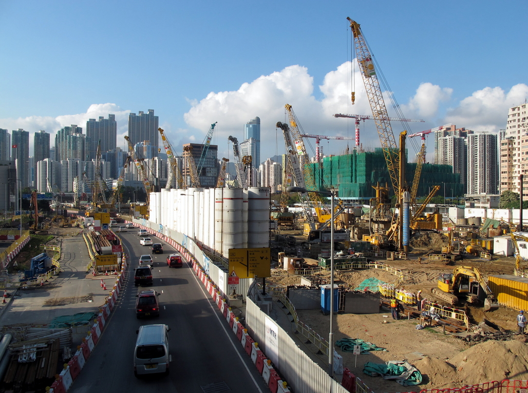 Things aren't booming as much as they used to in China. (West Kowloon Terminus in Hong Kong).
