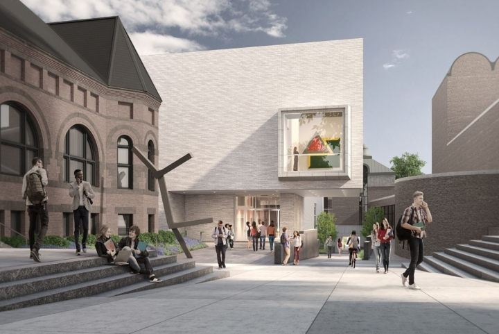Rendering of TWBTA's proposed Hood Museum of Art expansion at Dartmouth College. (Rendering: MARCH; Image via twbta.com)