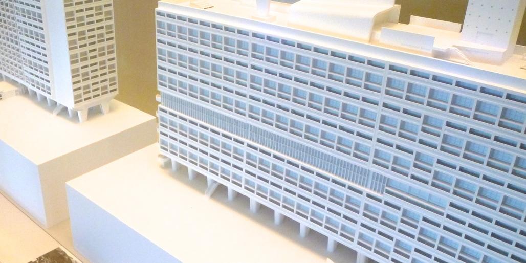 Models of Unité d'habitation in the cité de l'architecture et du patrimoine, Paris - Image Eleanor Marshall