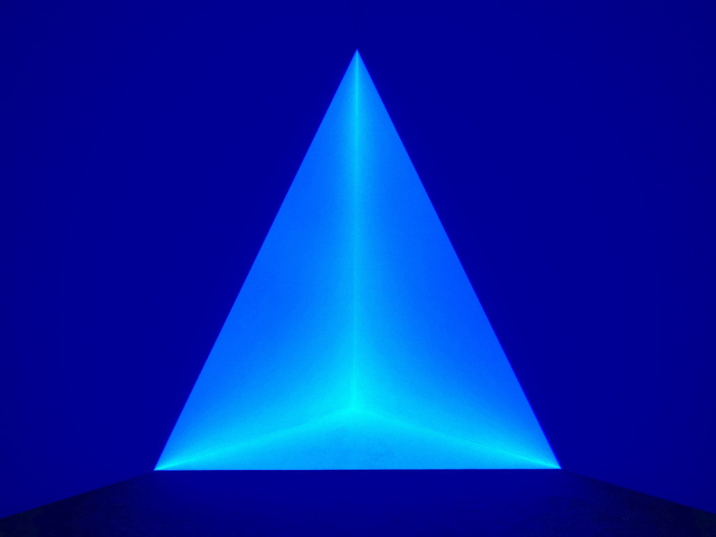"""One of James Turrell's holographic images exhibited at the University of Kansas Art Museum in 2013. Photo by: Dean Hochman, via <a href=""""https://www.flickr.com/photos/deanhochman/19420578394""""target=""""_blank"""">Flickr</a>."""