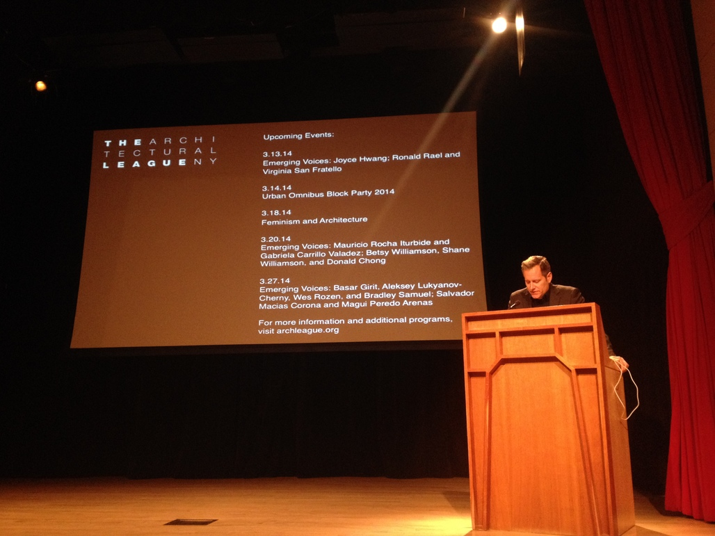 Paul Lewis introduces the Emerging Voices lecture. Photo credit: Ayesha Ghosh.