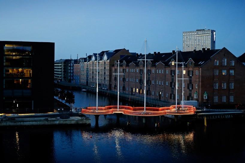 """Olafur Eliasson's Cirkelbroen (""""Circle Bridge"""") opened last weekend in Copenhagen, two years after initially scheduled. (Photo: Søren Svendsen, for Nordea-fonden)"""