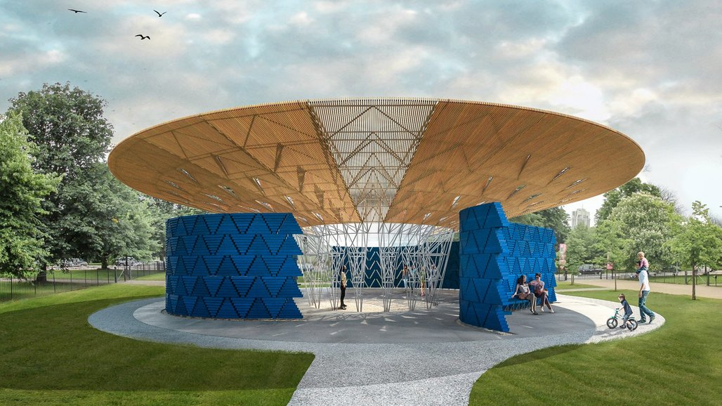 Serpentine Pavilion 2017 designed by Keré Architecture, Design render © Keré Architecture
