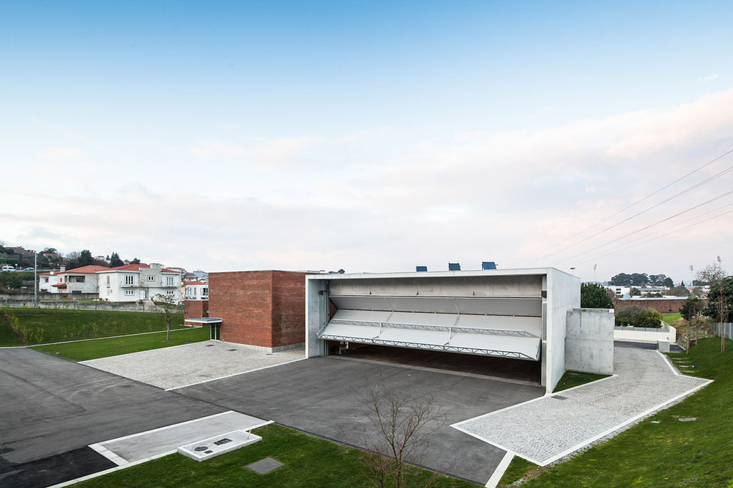 The fire station in Santo Tirso, Portugal opened on January 13, 2013 and is the first fire station designed by Pritzker Prize winner Álvaro Siza Veira. (Photo- Joao Morgado – Architecture Photography)