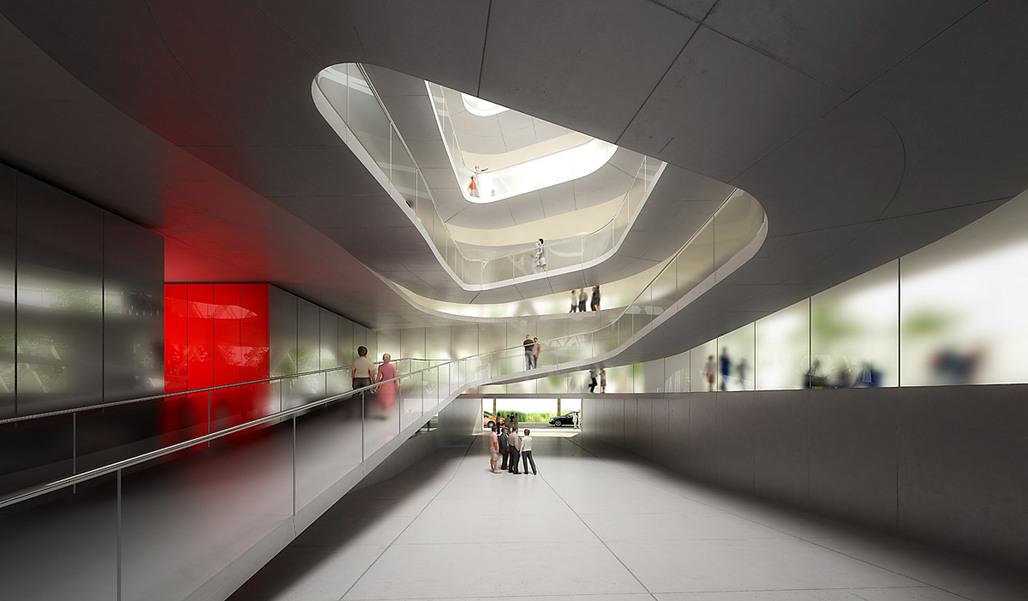 Visualization of the Inner courtyard (Image: Atelier Zündel & Cristea)