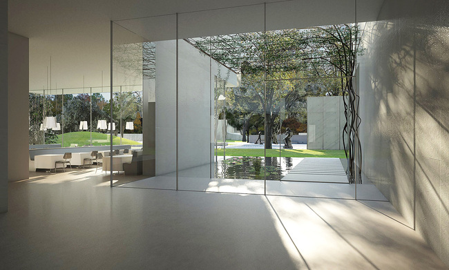 The Steven Holl-designed Nancy and Rich Kinder Building is part of the Museum of Fine Arts Houston's ambitious $450M campus expansion. The museum announced last month that it had already quietly raised almost $330M of the total amount in less than two years. (Image courtesy of Steven Holl Architects)