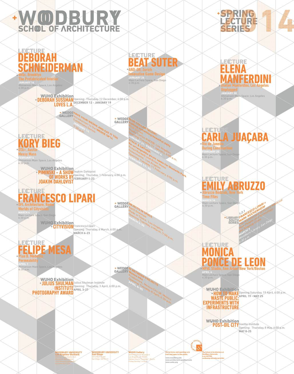Woodbury Architecture Spring '14 Lecture Series. Image courtesy of Woodbury School of Architecture.