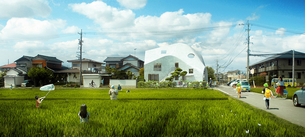 Rendering of MAD's Clover House kindergarten. Image courtesy of MAD.