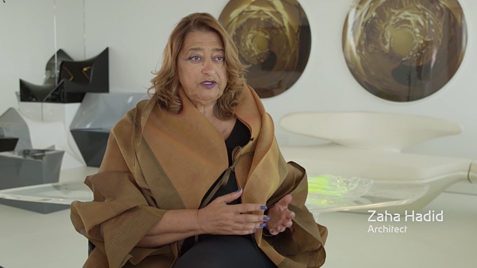 Screenshot from Zaha Hadid Architects' New National Stadium video appeal to give their redesigned proposal a second chance (August 2015).