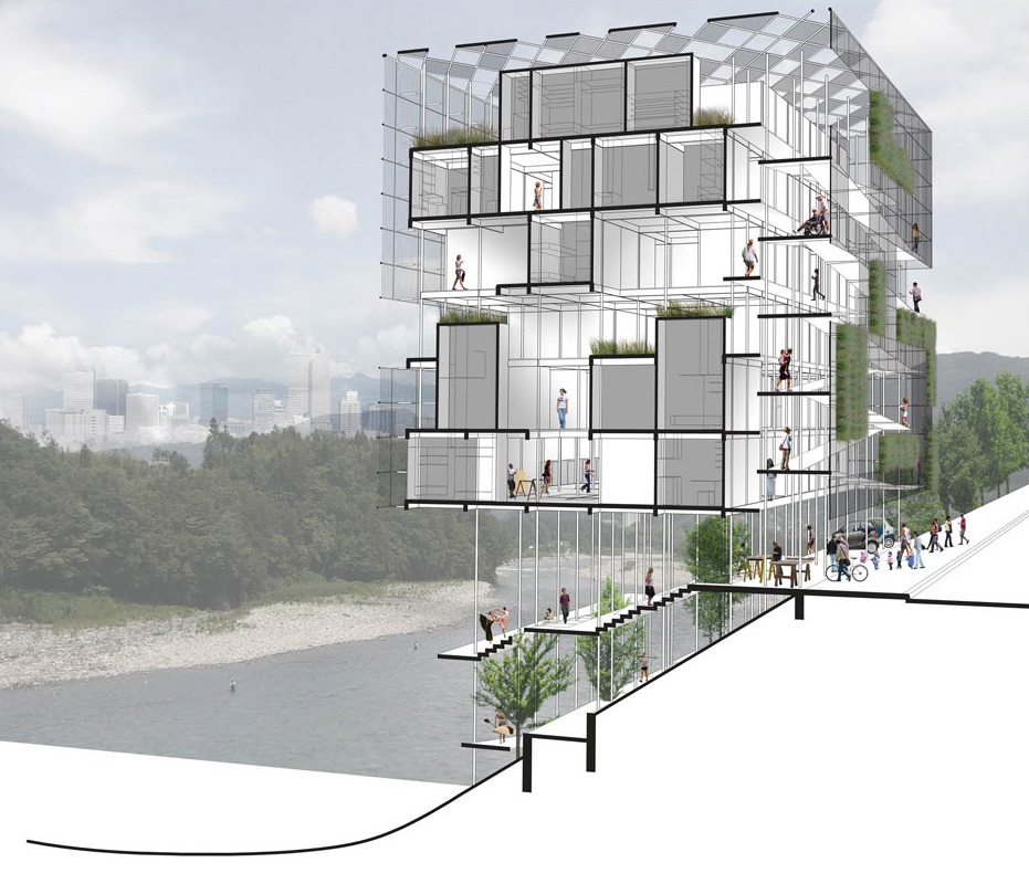 Detail of the first prize winner Micro Urban by Mexican practice Studio de Arquitectura y Ciudad
