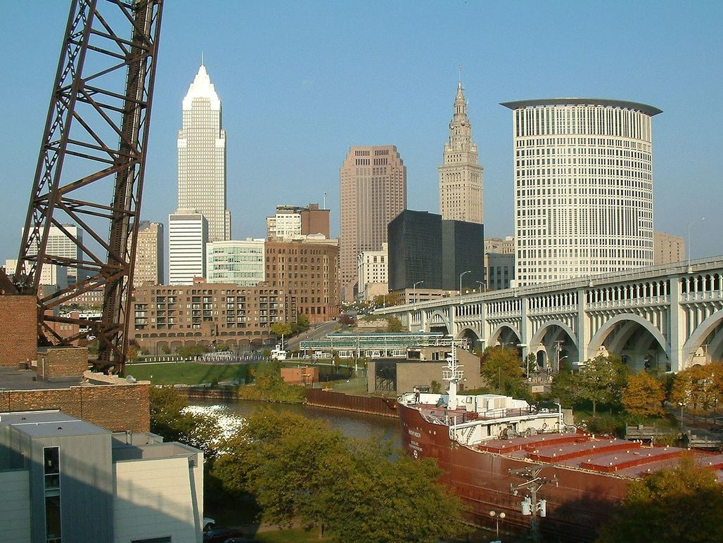 """Cleveland, Ohio ranked as the """"most economically distressed"""" city in the United States. Image via wikipedia.com"""