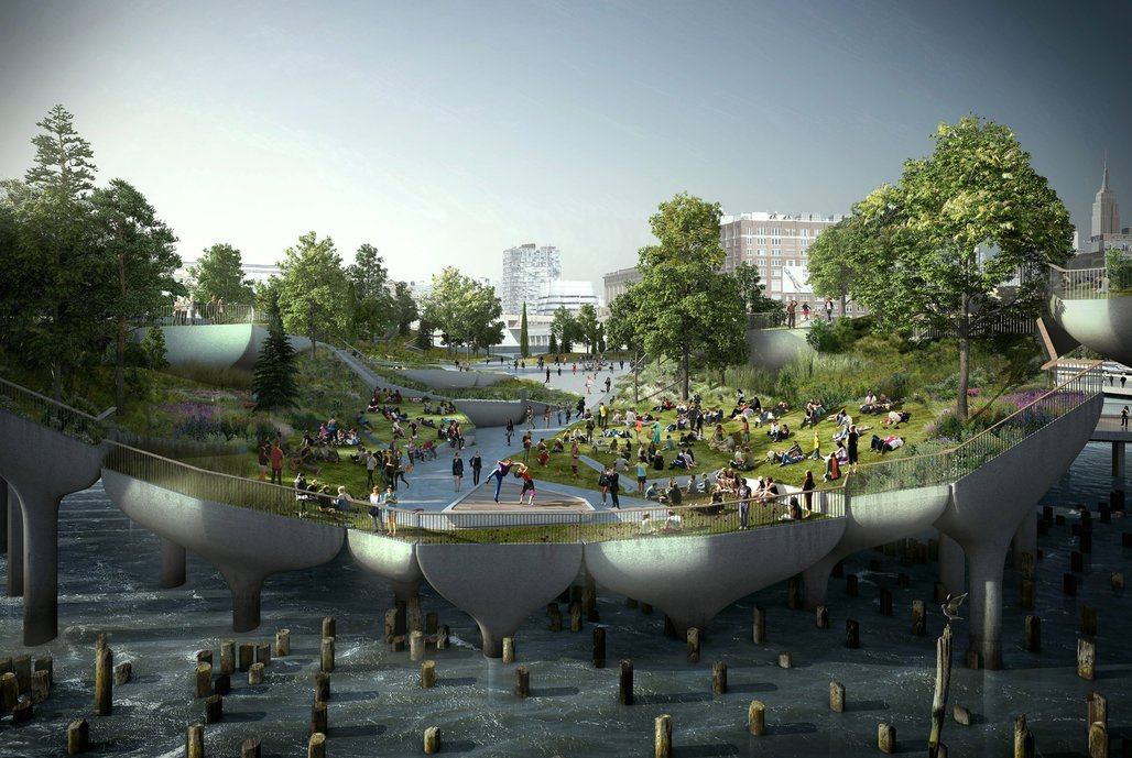 Heatherwick Studio's rendering of New York's Pier 55.