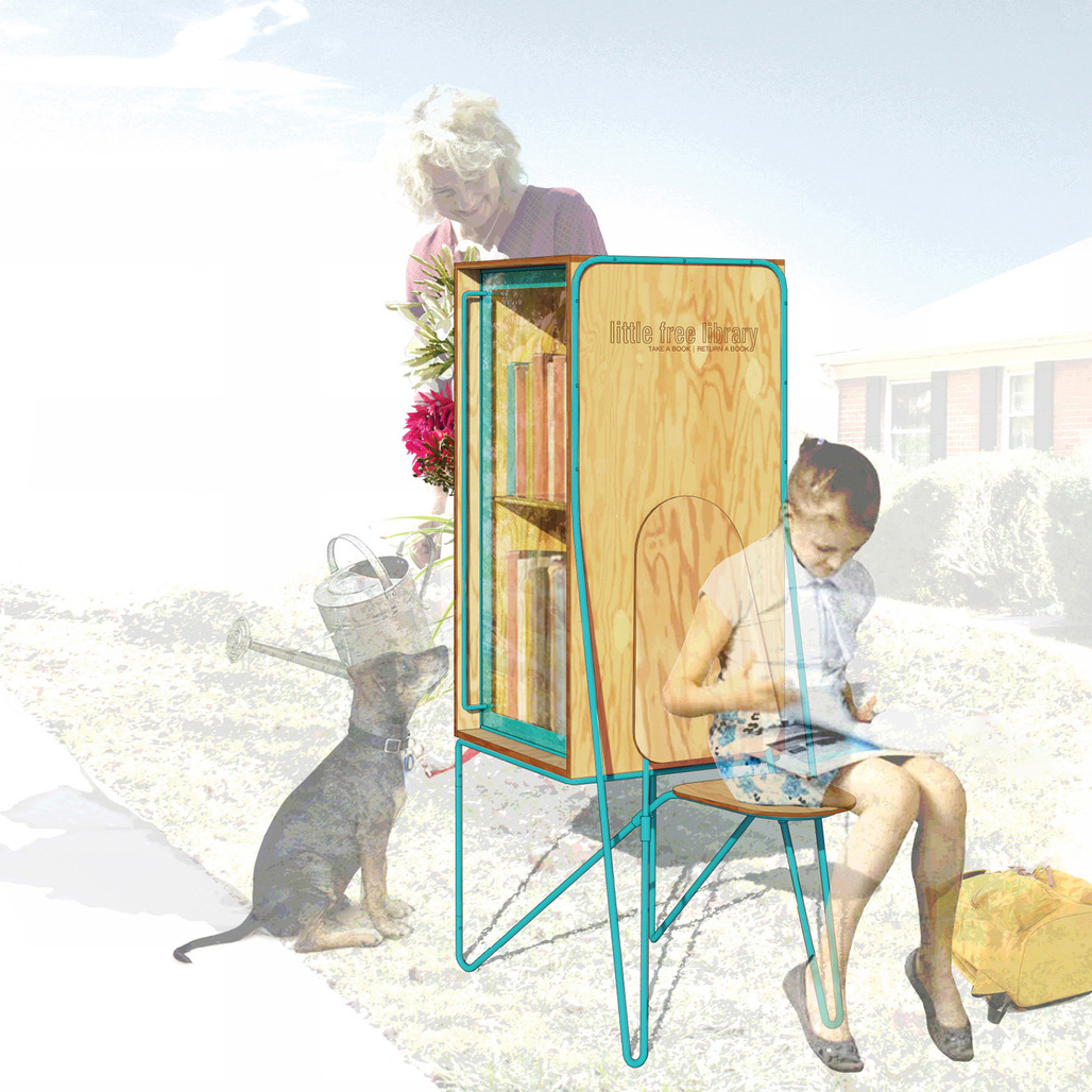 Rachel Murdaugh's entry in the Little Free Library Design Competition