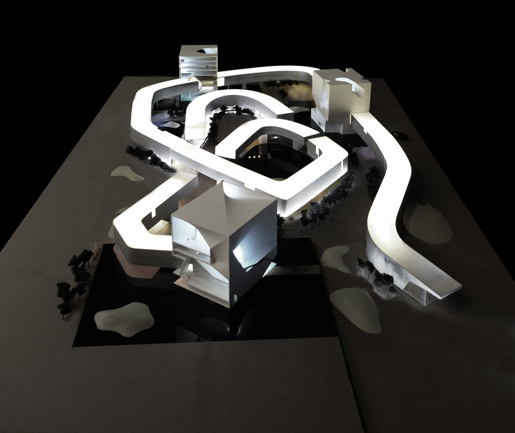 Steven Holl Architects' winning design for the new Qingdao Culture and Art Center. Image: Steven Holl Architects.
