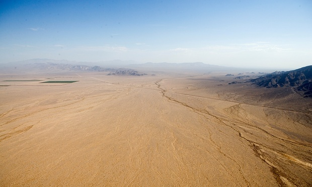 Cadiz Inc. CEO Scott Slater wants to pump water from the Mojave Desert into drought-stricken SoCal cities via a 43-mile pipeline. Photo: Cadiz Inc., via The Guardian.