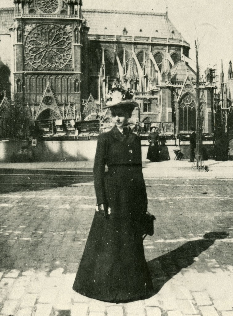 A young Julia Morgan while training as an architect in Paris. Image via Cal Poly Library
