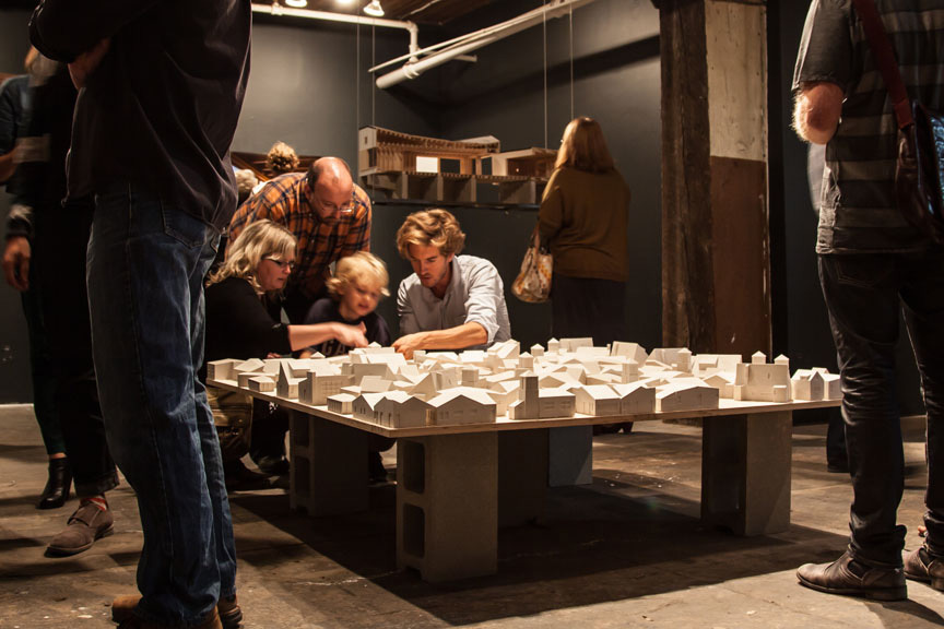 Second House First exhibition at the RAW Gallery, Winnipeg. Image taken by Jacqueline Young.