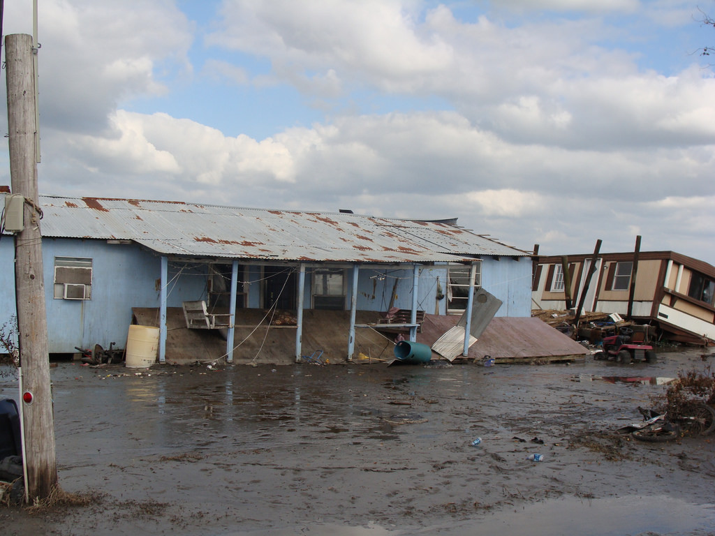 Flooding on the Isle de Jean Charles in Louisiana. Image credit: Karen Apricot via Flickr