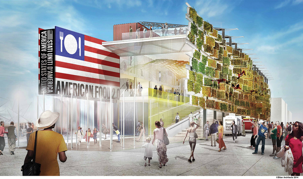 """""""American Food 2.0: United to Feed the Planet"""", designed by Biber Architects for the Milan Expo 2015. Image © Biber Architects"""