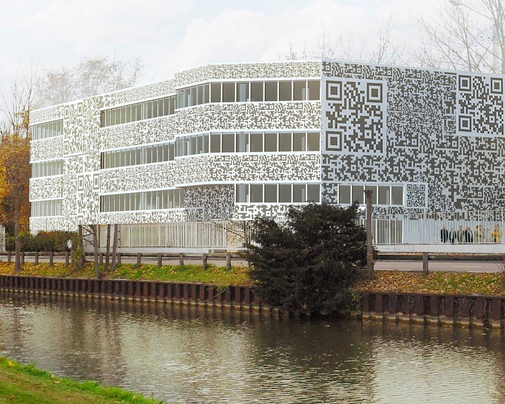 Close-up of the transformed building (Image: MVRDV)