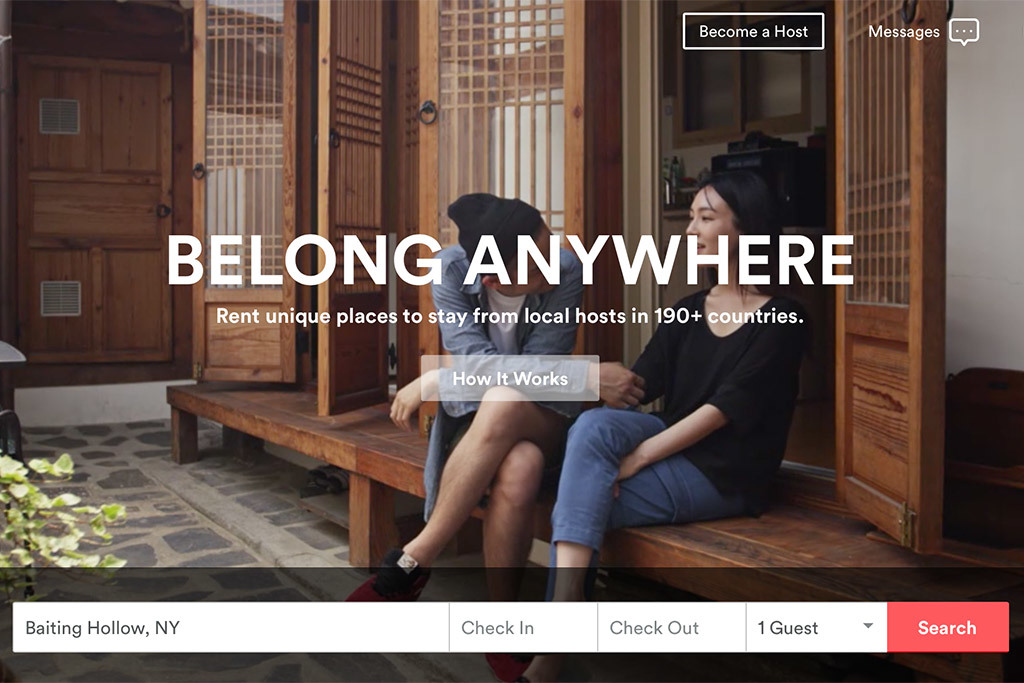 Screen shot of the Airbnb search page. Image via skift.com.