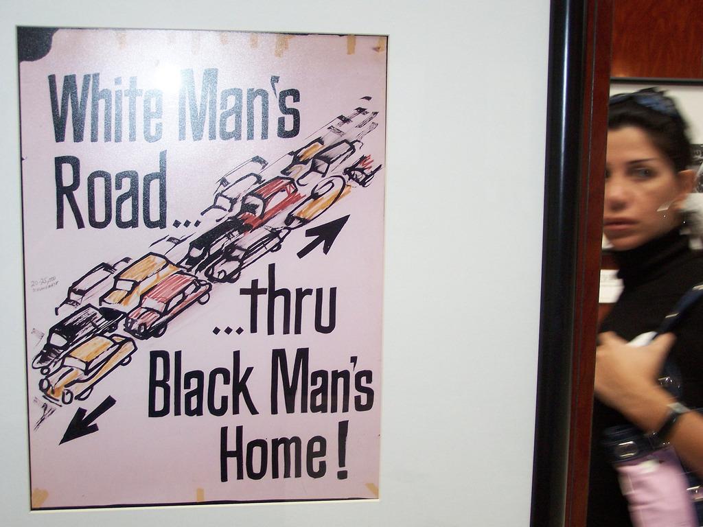 "Historical ""White Man's Road ... thru Black Man's Home!"" highway revolt poster. (Photo: Richard Layman/Flickr)"