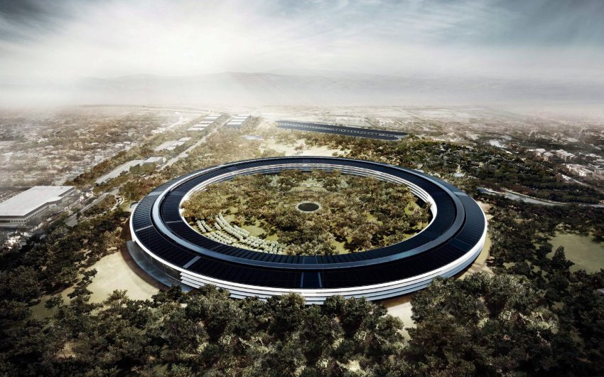 "Steve Jobs called Apple's Norman Foster-designed future headquarters ""the best office building in the world."" (DPA, via Spiegel)"