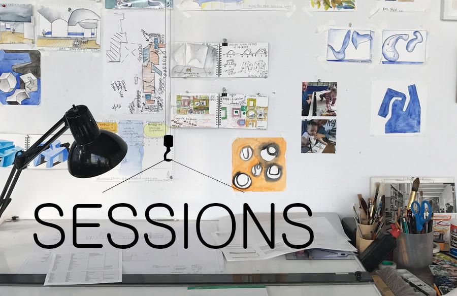 Steven Holl's desk, photo courtesy of Steven Holl Architects