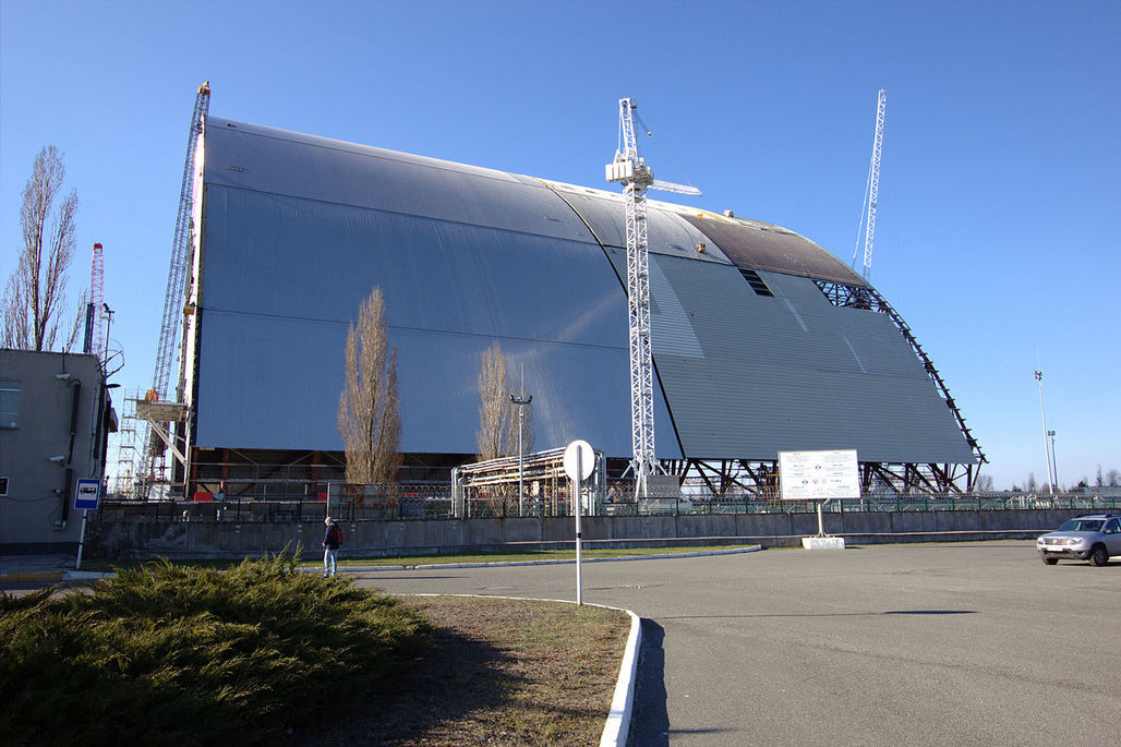 A view of the New Safe Confinement. Image: Wikipedia