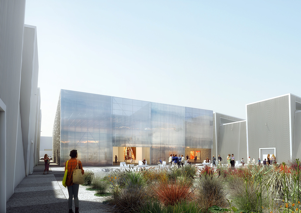 Rendering of the exterior view of Alserkal Avenue. Image: OMA.