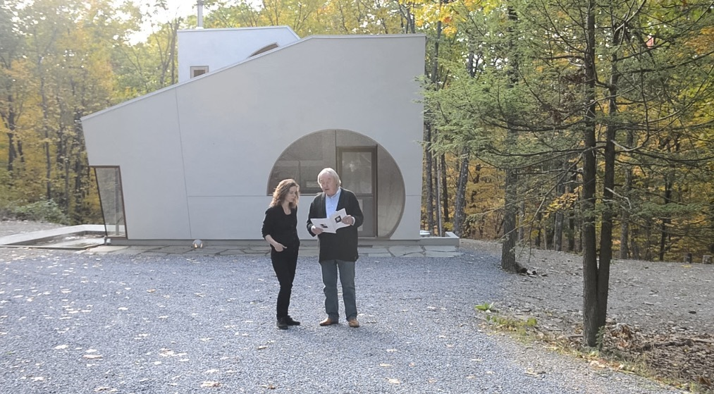 Steven Holl reads poetry before getting into the spirit of the space. Screenshot: Vimeo